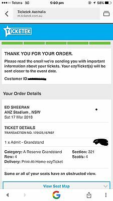 Ed Sheehan Ticket Sydney March 17