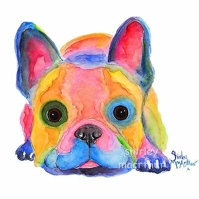 FRENCH BULLDOG PRINTS WaLL ART of Original Painting AM I FRENCH? by SHIRLEY M