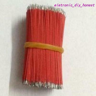 1000pcs Red tinned wire diameter 0.8MM wire electronic wire lengh 40mm#CJ409-2