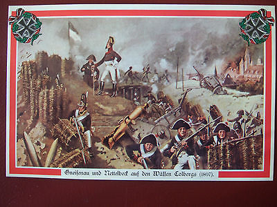 Military Collectors Card-General Gneisenau On Ramparts At Siege Of Colberg 1807