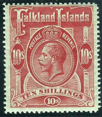 FALKLAND ISLANDS-1904 5/- Red.  A mounted mint example, creased  Sg 50