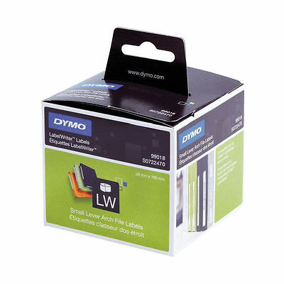 Dymo 99018 38mm x 190mm Small Lever Arch Labels Black on White