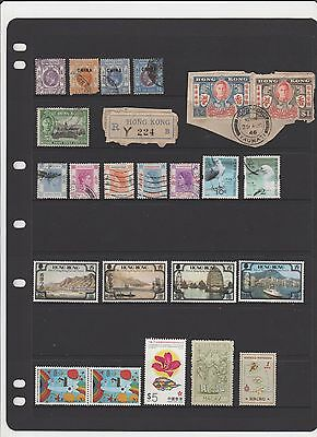 stamps from hong kong couple kgv overprinted china,kgvi,queen elizabeth,used,mh