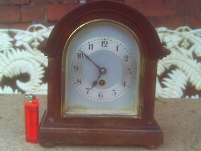 Small Antique Junghans Mantel or Bracket Clock in GWO.