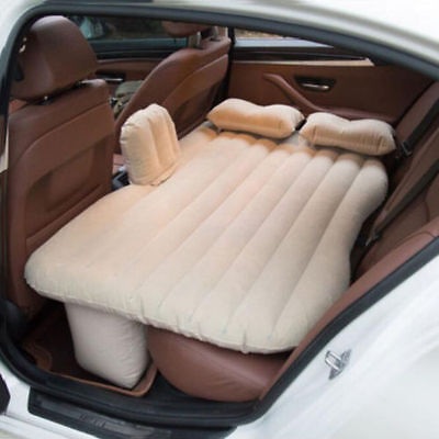 Car Inflatable Air Bed Back Rear Seat Travel Sleep Rest Air Mattress With Baffle