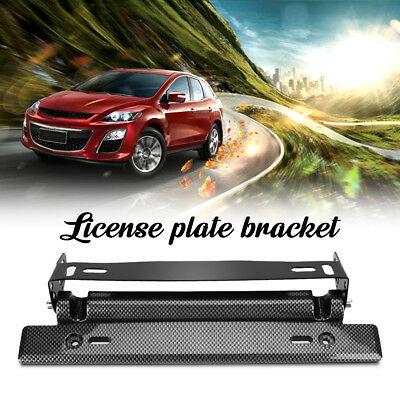 Universal Bull Bar Front Bumper License Plate Mount Bracket Holder Offroad Light