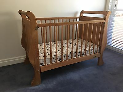 Touchwood Sleigh Panelled Cot