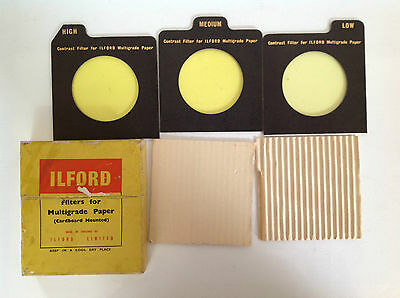 Boxed Vintage Ilford Filters for Multigrade Paper (Cardboard Mounted)