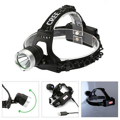 AGM 1800LM CREE XML T6 Zoomable Headlamp Head Light Torch Lamp Rechargeable