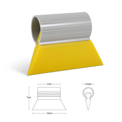 Mini Yellow Turbo Squeegee Silicone Rubber Blade for Window Tint Decals Stickers