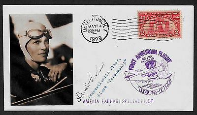 Amelia Earhart collector envelope w original period stamp over 90 years old A577