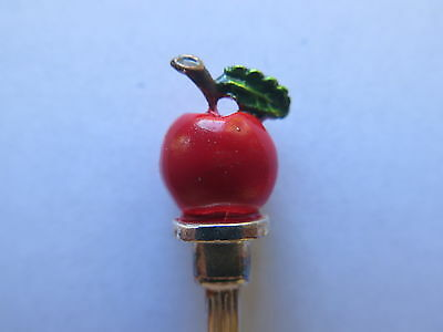 APPLE HAND PAINTED EPNS SILVER SPOON MADE in ENGLAND