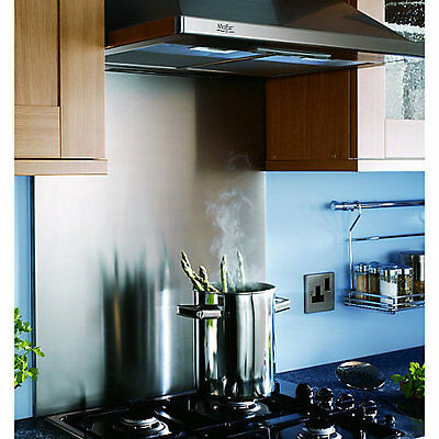 Kitchen Splash Back Brushed Stainless Steel - All Sizes
