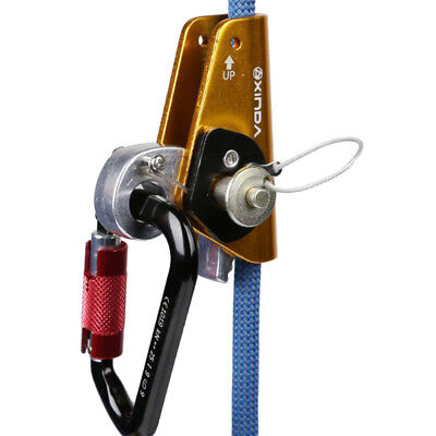 Heavy Duty 22KN Rope Grab Protecta & Eye Rock Climbing Arborist Safety Gear