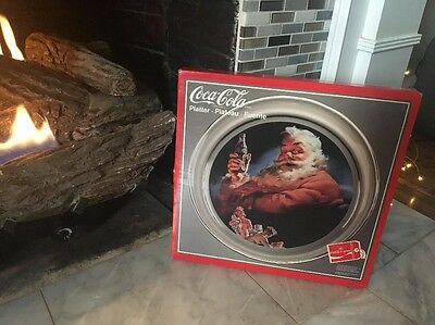 Coca-cola Christmas Collectible Santa Platter!