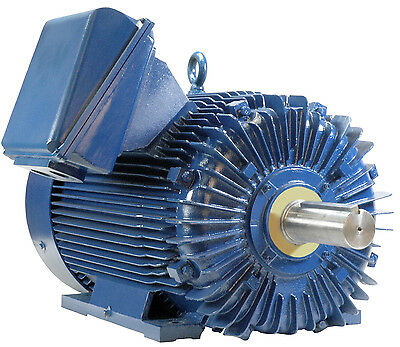 300 hp electric motor 1800 rpm 586/7u 3 phase severe duty ball bearings coupled