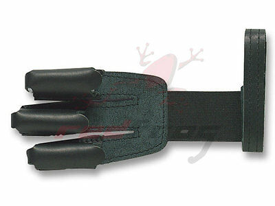 New Gompy Archery Black Leather 3 Finger Shooting Glove Recurve Flat Bow Longbow