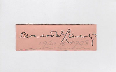 Bernard McLaverty - Derby County (1920-1928) hand signed album page