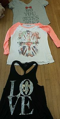 NEW Miss Me T Shirts tanks tees Long Sleeve assorted styles LOT OF 3. Sz: S
