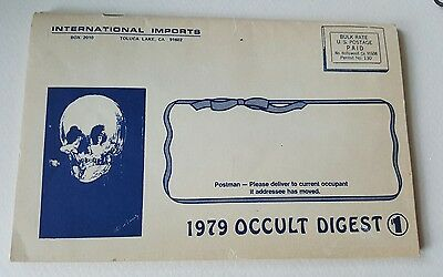Vintage Occult Catalog Novelty Sex Magick Conjure Scrying Amulet Jewelry Voodoo