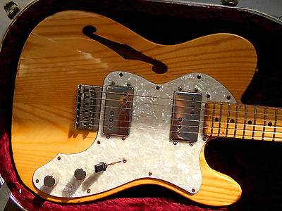 Fender Classic Series 72 Telecaster Thinline Electric Guitar – Wood Finish
