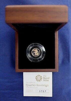 2009 Gold Proof Quarter Sovereign coin in Case with COA   (A4/2)