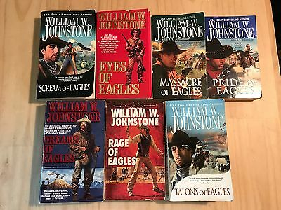 Lot Of 7 William W Johnstone Westerns-Eagles Series