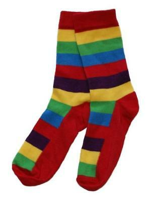 LITTLE SUNFLOWERS One Pair of 2-4y Rainbow Striped Socks Kids Boys Girls - NEW