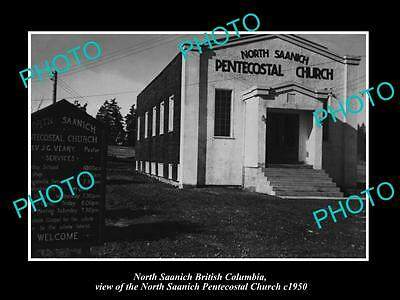 OLD HISTORIC PHOTO OF CANADA, THE NORTH SAANICH PENTECOSTAL CHURCH, BC c1950