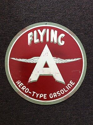 Flying A Gasoline Sign: Reproduction of a Vintage Sign