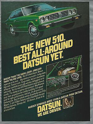 1978 DATSON 510 advertisement, Datsun 510 ad,  green hatchback