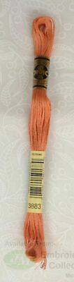 DMC Stranded Cotton Embroidery Floss, 8m Skein, Colour 3883 Medium Light Copper