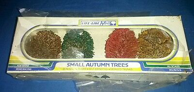 train set layout SMALL AUTUMN TREES ,LIFE LIKE TRAINS ,HO N O S SCALES