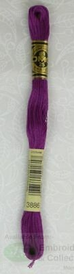 DMC Stranded Cotton Embroidery Floss, 8m Skein, Colour 3886 Very Dark Plum