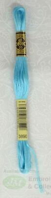DMC Stranded Cotton Embroidery Floss, 8m Skein, Colour 3890 Very Bright Turquois