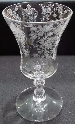 Cambridge Glass Crystal Etched Rose Point Footed Tumbler