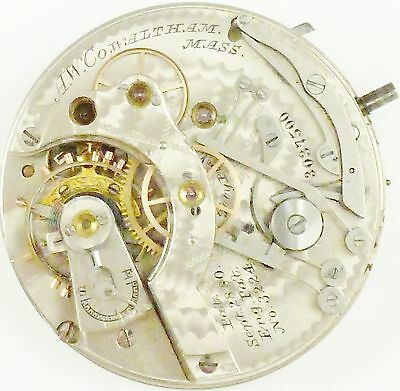 Waltham Pocket Watch Movement - Riverside Chronograph - Spare Parts / Repair!