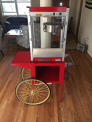 Popcorn Machine Popper Paragon TP-8 w/cart Theater Pop