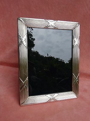 Carr's of Sheffield Sterling Silver Picture Frame British Hallmarks 9X7 R Carr