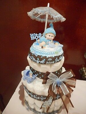 3 Tier its A Boy Baby shower Diaper Cake Baby  Boy. RESERVED FOR CARRIE