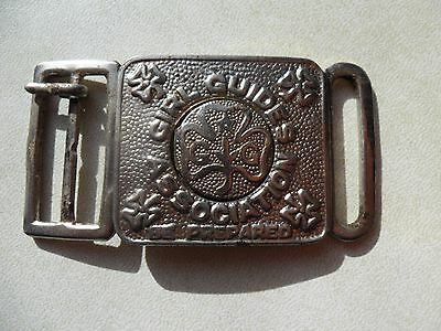 Vintage Girl Guides Association  Be Prepared  Metal Belt Buckle from the 1970's