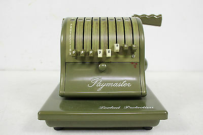 Vintage Paymaster Model S-1000 Hand Operated Check Writing Machine With Key