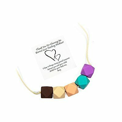 Silicone Teething Necklace For Mom To Wear - BPA Free, Dishwasher Safe, Styli...
