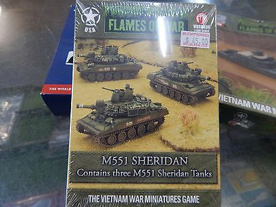 15mm Flames Of War Vietnam M551 SHERIDAN Tanks