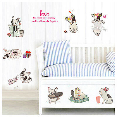 Frenchie Lovely French Bulldog Wall Décor Stickers Home Decor bed child room new