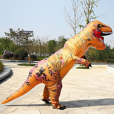 T-Rex Inflatable Dinosaur Costume Adult Outfit Halloween Party Suit Fancy Dress