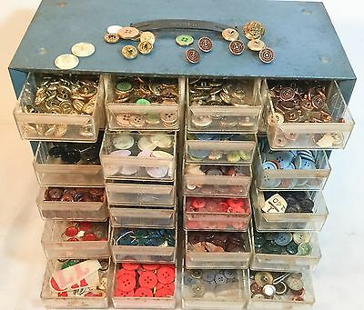 Vintage Huge Lot of Military Clothing Buttons ~ French Brass Militares Misc