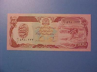 2 1991 Afghanistan 100 Afghanis Notes Crisp Uncirculated