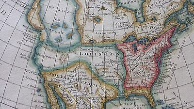 1782 map of the United States French map of North America early map of the US