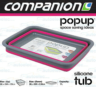 Pink Silicone Wash Tub  Pop Up Collapsible Camping Camper Collapsible 526311
